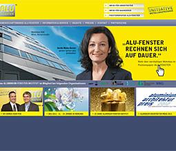Neues Werbesujet auf www.alufenster.at