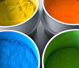 Farbtöpfe Pulverbeschichtung, © Nicole Heiling