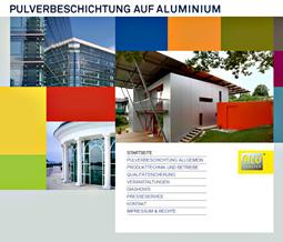 Webseite Pulverbeschichtung, © www.alufenster.at